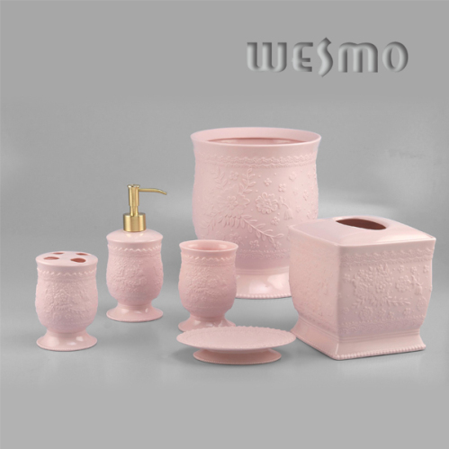 Porcelain bathroom set bathroom accessories wesmo for Ceramic bath accessories sets