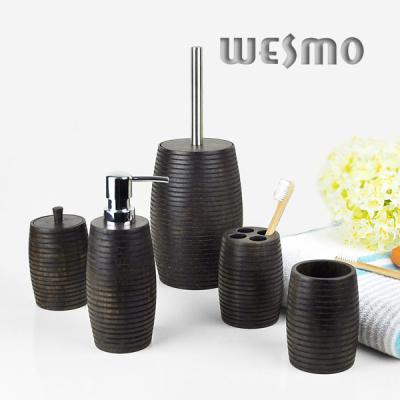Set salle de bain en bois accessoires de salle de bains for Accessoire salle de bain en bois