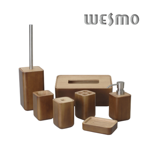 Wood bathroom set bathroom accessories wesmo for Bathroom accessories wood