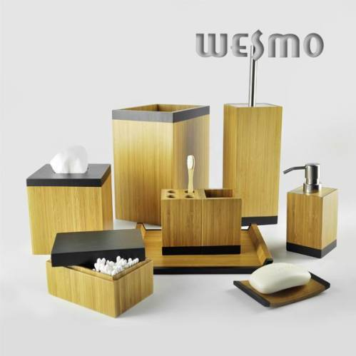 accessoire salle de bain bambou. Black Bedroom Furniture Sets. Home Design Ideas