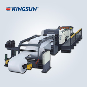 high speed servo control paper sheeting machine