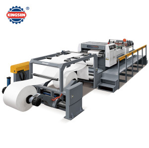 Servo control paper roll to sheet cutting machine