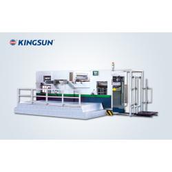 Machine de plissage à pression de platine et découpage à moule complètement automatique