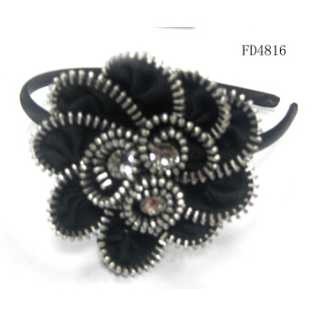 zipper flower aliceband