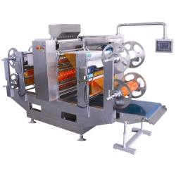 Granule multicouche Pouch quatre côtés d'étanchéité et machine à emballer multi-lignes