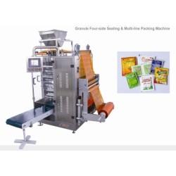 Gránulo 4 lado de sellado y multi-línea de la máquina de embalaje