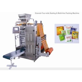 Granule 4-side sealing & multi-line packing machine