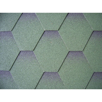 Mosaic single-layer shingles