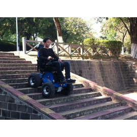 Climbing steps wheelchair