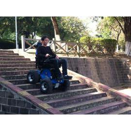 Climbing steps wheelchair