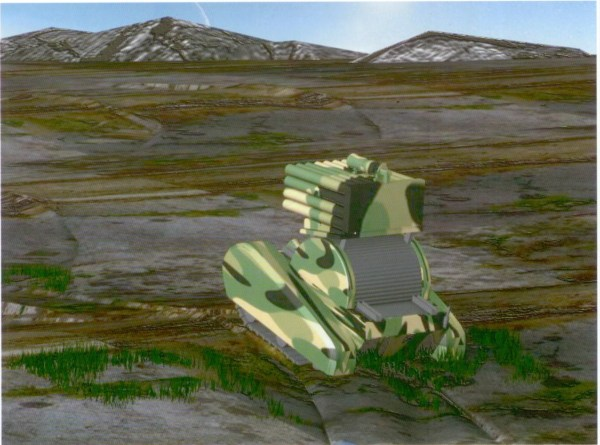 Special barrier-free military vehicle