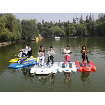 Water bike with awning/ pedal boat for 3 person