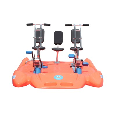 Pedal boat for 3 person / human sport equipment
