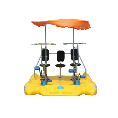 Water bike with awning / pedal boat for 3 person