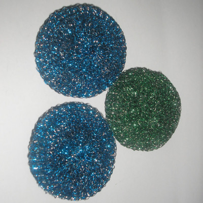 Colorful scourer cleaning ball