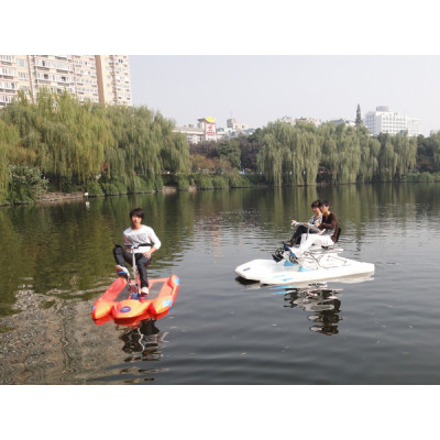 Water bicycle with boat bottom,pedal boat