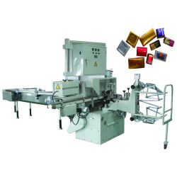 chocolate, máquina de embalaje plegable
