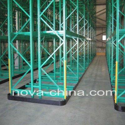 Double deep pallet shelves