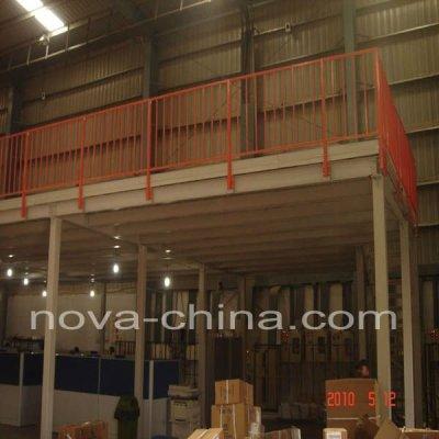 Storage steel mezzanine racking