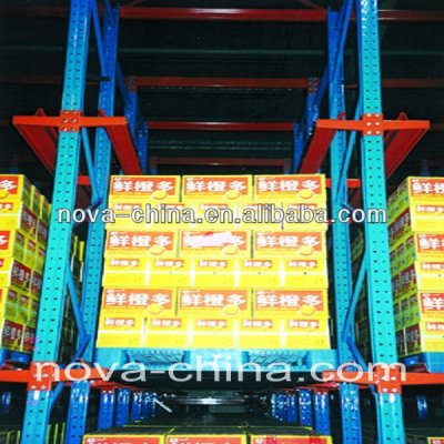 Drive-in pallet racking for warehouse shelving system