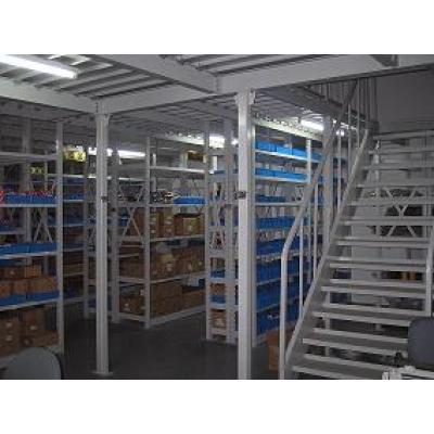 Mezzanine shelving