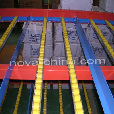 Flow-through Racking for Warehouse