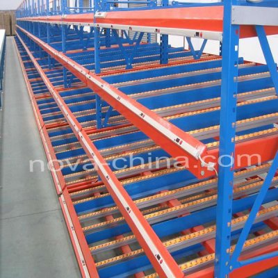 rolling metal shelves