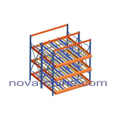 Warehouse Roller Rack System
