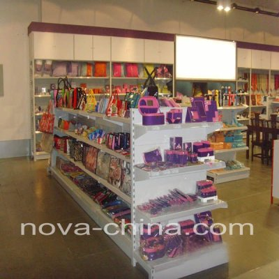 Metal display supermarket shelf