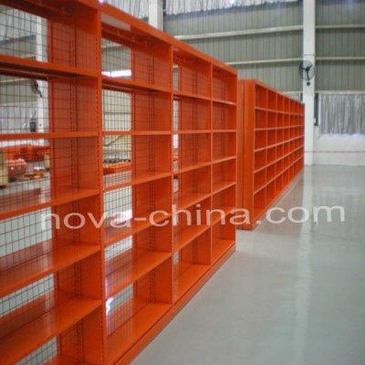 warehouse bookshelves