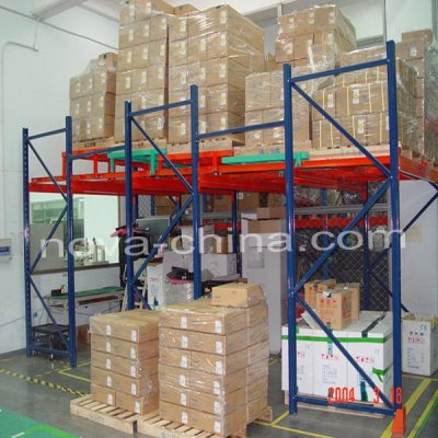 large quantity of goods racking