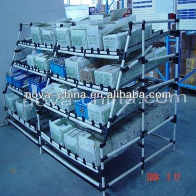 pipe material storage shelf