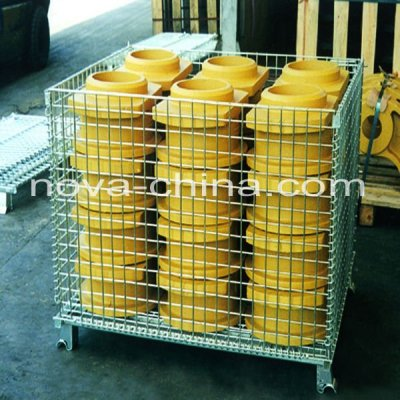 foldable and reliable metal pallet cage