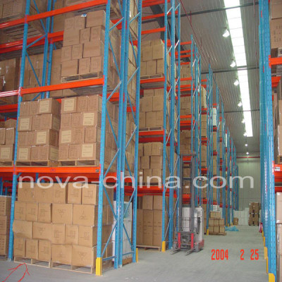 Heavy duty warehouse selective pallet racking