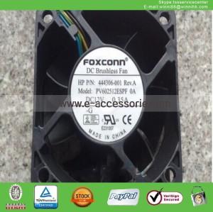 NEW Foxconn PV602512ESPF Fan HP 444306-001 0.35A 4Pin 60*60*25mm