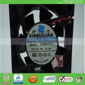 NEW XINRUILIAN RDM6020S Fan DC12V 0.12A 60*60*20mm 2Pin