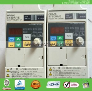 uesd OMRON 3G3JV-A2007 0.75KW 220V Industrial inverter
