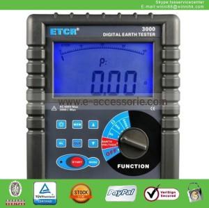 NEW ETCR3000 Digital Ground Earth Resistance Tester Meter
