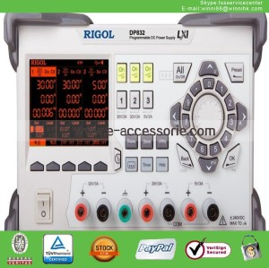 New RIGOL DP832 195W <350 uVrms/2mVpp 3 outputs Programmable DC Power Supply