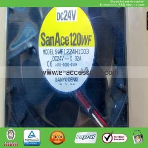 new SANYO 9WF1224H1D03 A90L-0001-0509 3pin DC24V 0.32A 120*120*38mm