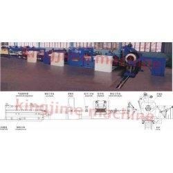 Linha ordinário de corte, nivelamento e desenrolamento de chapa