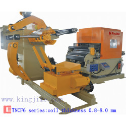 nc servo feeder with decoiler and straightener