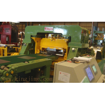 Rotary shear cutting machine line