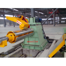 steel coil strip uncoiling machine with coil car