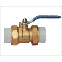 brass ball valve with PPR union