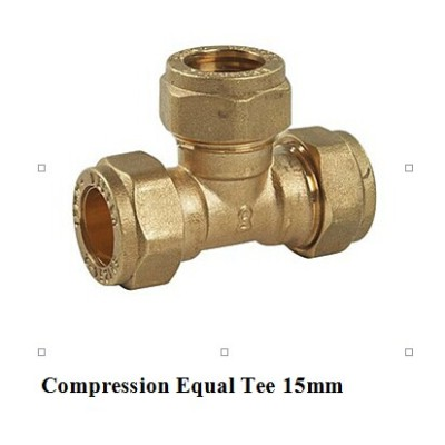 compression fitting tee 15mm