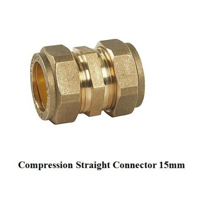 compression fitting straight 15mm