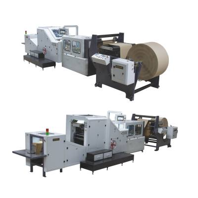 roll feeding paper bag making machine