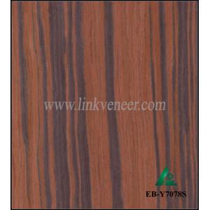 EB-Y7078S, Ebony Engineered Wood Veneer 2500X640X0.5mm
