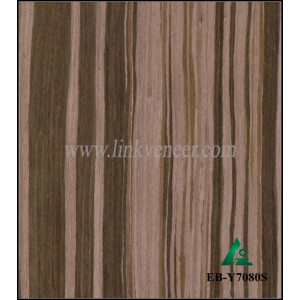EB-Y7080S, composite wood veneer ebony wood veneer with FSC certificated for door face